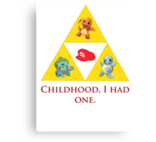 Tri-Force of Awesome (Zelda, Pokemon, Mario) Canvas Print