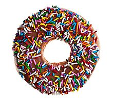 Chocolate Sprinkle Donut Photographic Print