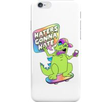 """Haters Gonna Hate"" Reptar (white) iPhone Case/Skin"