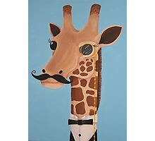 Gentleman Giraffe Photographic Print