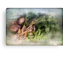 Peas Parsnips and Potatoes Canvas Print