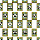 Mustache Panda 4 (Pattern) by Adamzworld