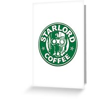 Star-Lord Coffee Greeting Card