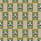 Mustache Panda 4 (Pattern 5) by Adamzworld