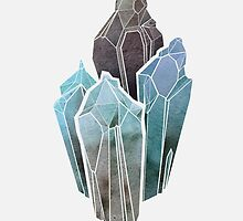 Light Watercolor Crystals by byOli