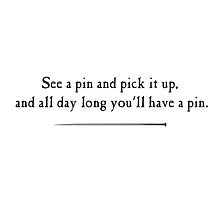 Find a pin and Pick it up by StewNor