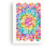 Rainbow Honeycomb with Stars Canvas Print