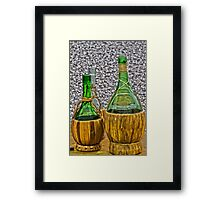 bottle of wine Framed Print