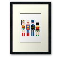 Justice League Squared MKi Framed Print