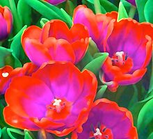 Fantasy Tulip Abstract by Margaret Saheed