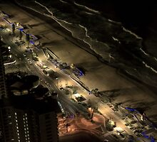 Surfers Paradise night lights by Jeanne Peters