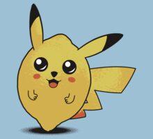t-shirt pokemon t-shirt kid t-shirt pikachu t-shirt cute kawai t-shirt fruit t-shirt citron t-shirt lemon by KokoBlacksquare