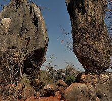Balancing Rocks, near stanthorpe Nsw by Michael Crameri