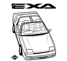 Nissan Exa Action Shot Photographic Print