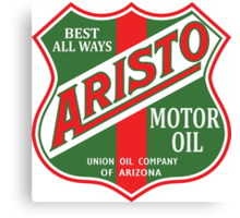 Aristo Motor Oil vintage sign reproduction Canvas Print