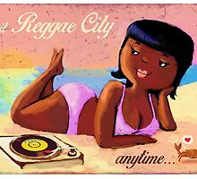 Reggae Girl on The Beach by colonelle