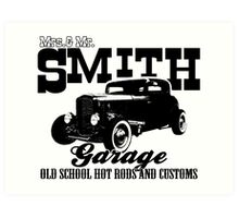 Mrs.& Mr. Smith Hot-Rod Garage Art Print
