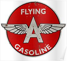 Flying A Gasoline rusted version Poster