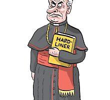 Cardinal Ferdinand Hardliner by MacKaycartoons