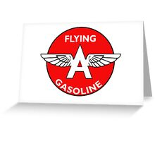 Flying A Gasoline vintage sign Greeting Card