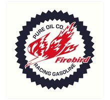Pure Firebird Racing Gasoline vintage sign reproduction Art Print