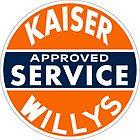 Kaiser Willys Approved Service vintage sign  by htrdesigns