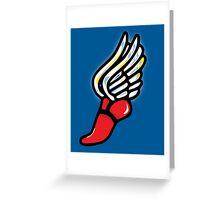Athlete Shoe Greeting Card