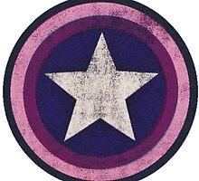 steve rogers bi flag shield by sansastoneheart