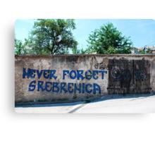 Graffiti in Travnik Canvas Print