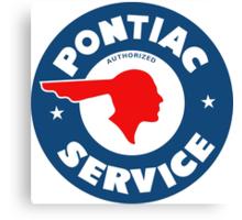 Pontiac Service vintage sign Canvas Print