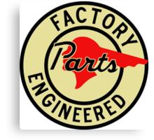 Pontiac Factory Parts vintage sign Canvas Print