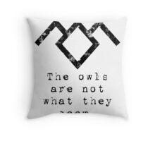 Suspicious owls Throw Pillow