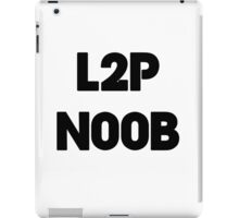 Learn to play N00b iPad Case/Skin