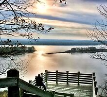 Sunset on the Mississippi (Eagle Lookout, Savanna IL) by Nadya Johnson