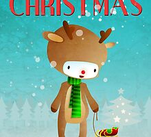 Xmas Rudolph Raindeer  by Paulo Capdeville