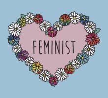 Feminist Flower Heart Kids Clothes