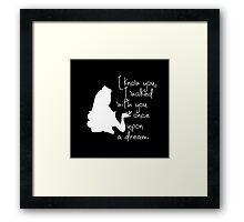 Disney Princesses: Aurora (The Sleeping Beauty) *White version* Framed Print