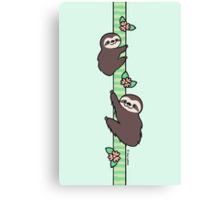 Three Toed Sloths Canvas Print