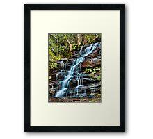 Aqua Veil, Somersby Falls Framed Print
