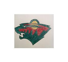 Minnesota Wild Colored Pencil Drawing by Haleyd1612