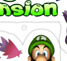 Luigi's Pokemon Mansion Sticker