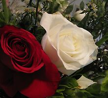 Two Roses in Remberance by Katy Wuerker