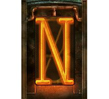 Steampunk - Alphabet - N is for Nixie Tube Photographic Print
