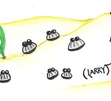 Party Clam Larry by Katy Wuerker