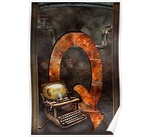 Steampunk - Alphabet - Q is for Qwerty Poster