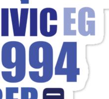 1994 civic eg mod collage Sticker