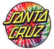 "Santa cruz ""tie-dye"" logo by Ethanparker"