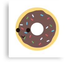 Cute Chocolate Glazed donut with sprinkles Canvas Print