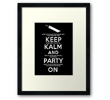 Keep Kalm Framed Print
