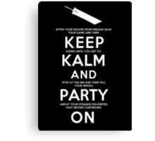 Keep Kalm Canvas Print